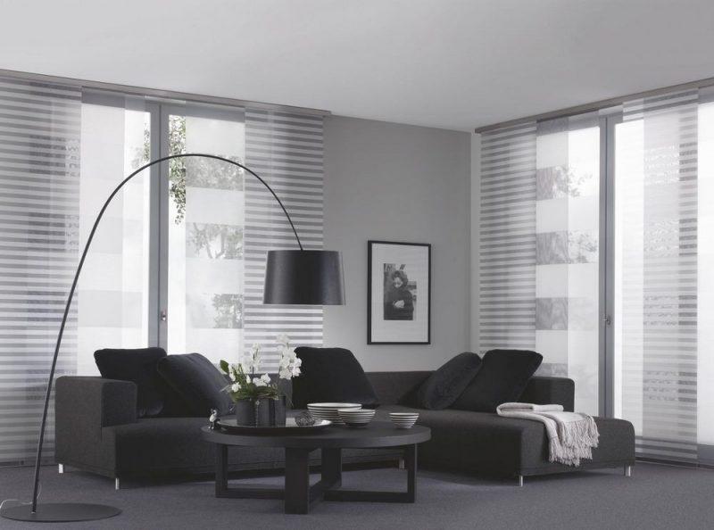 Gardinen Dekorationsvorschläge Wohnzimmer minimalistisch Neutralfarben