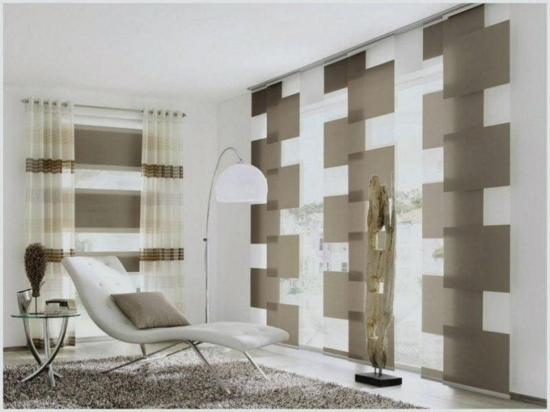 Gardinen Dekorationsvorschläge stilvoll geometrische Muster