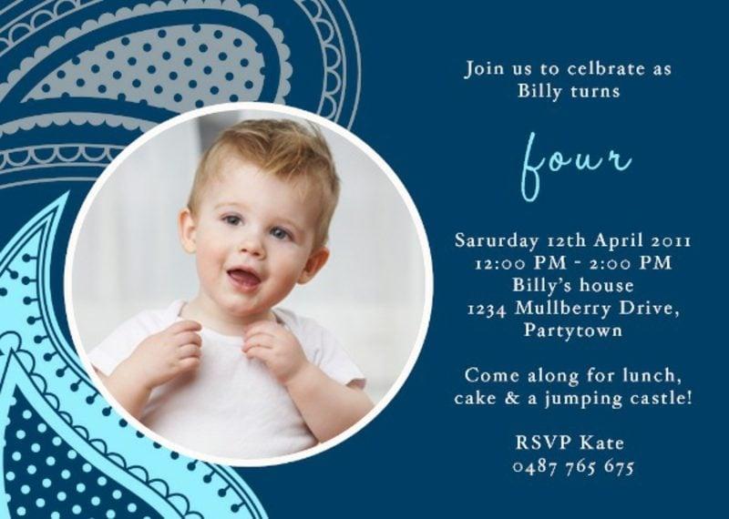 Einladung Kindergeburtstag Junge klein Mustertext Foto