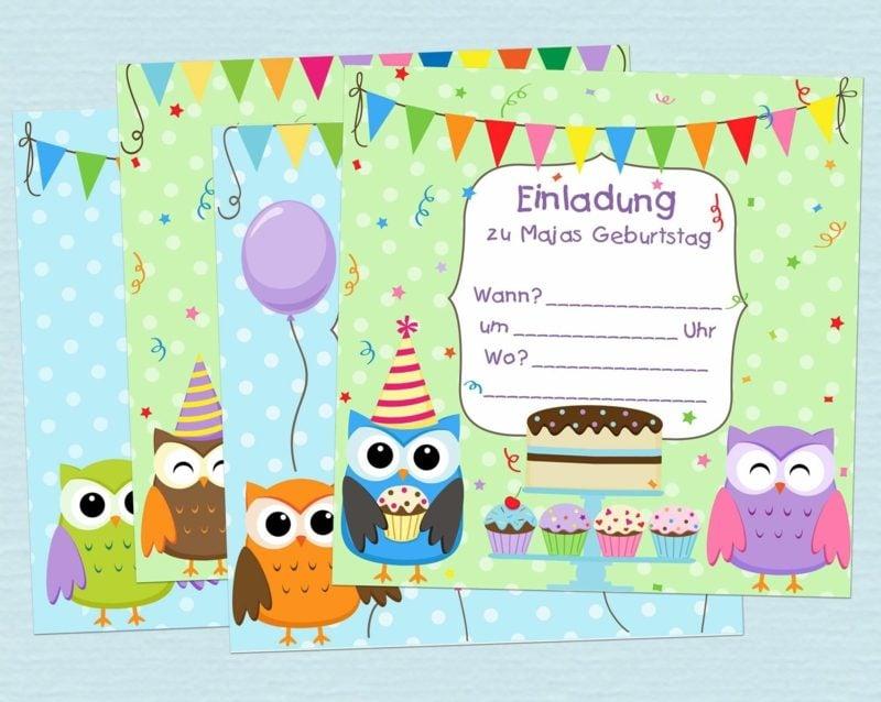 Einladung Kindergeburtstag fantasievolle Designideen