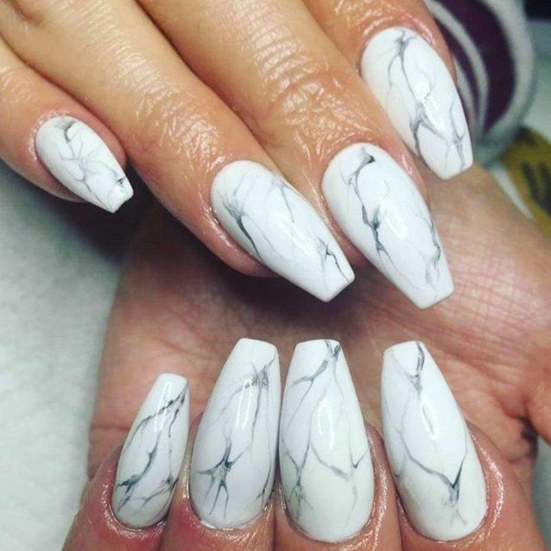 Acryl Nägel vs. Gelnägel Marmor Effekt herrlicher Look