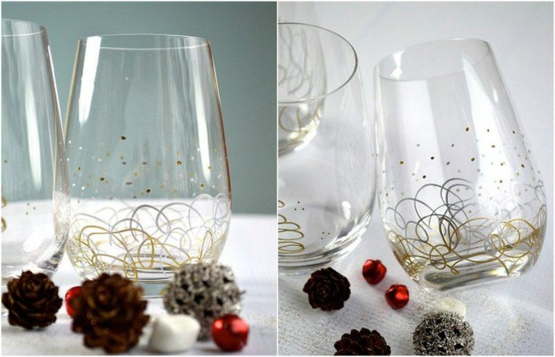 Gläser dekorieren mit Edding Markern