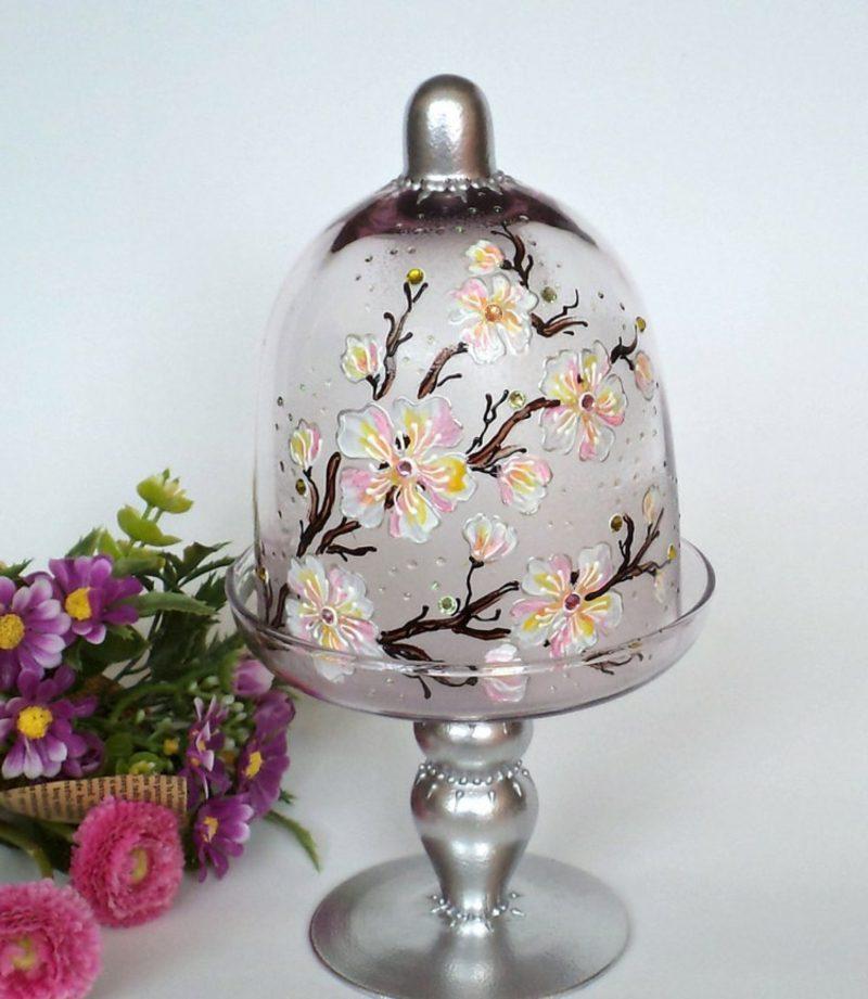 Gläser dekorieren Glasglocke japanische Motive