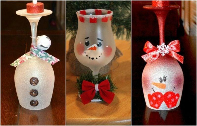 Gläser dekorieren zum Weihnachten