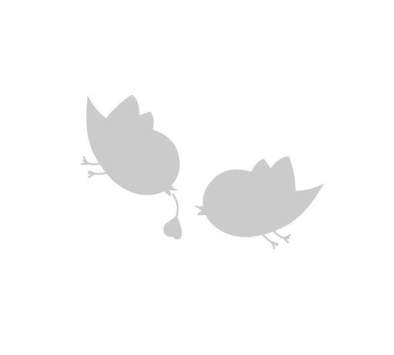 Gläser dekorieren Vorlage Vögelchen