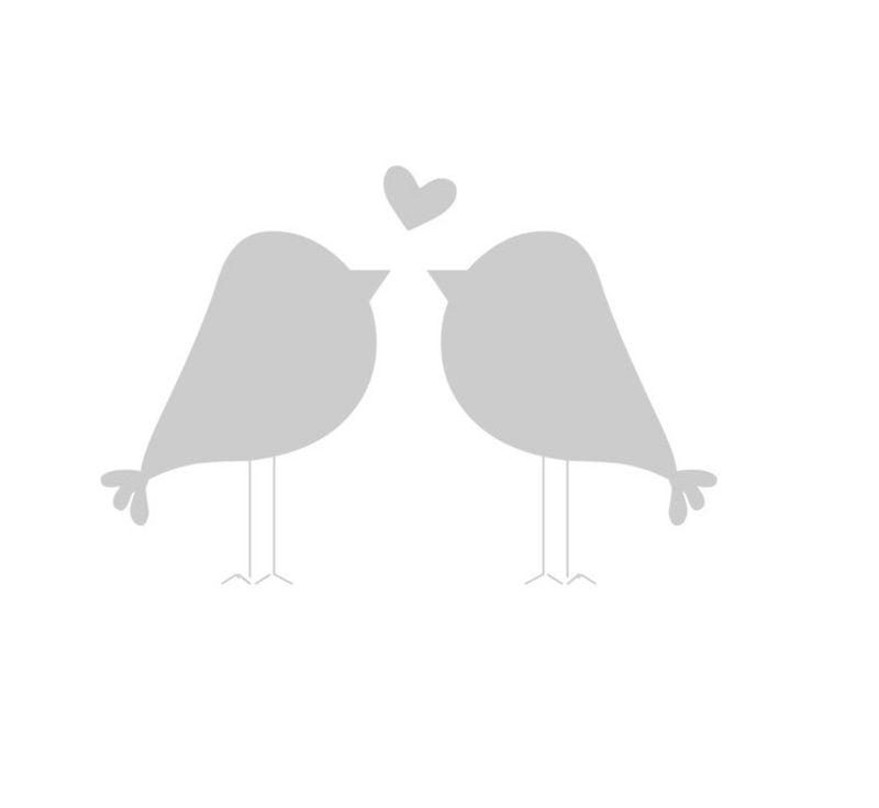 Gläser dekorieren Vorlage Vogel verliebt