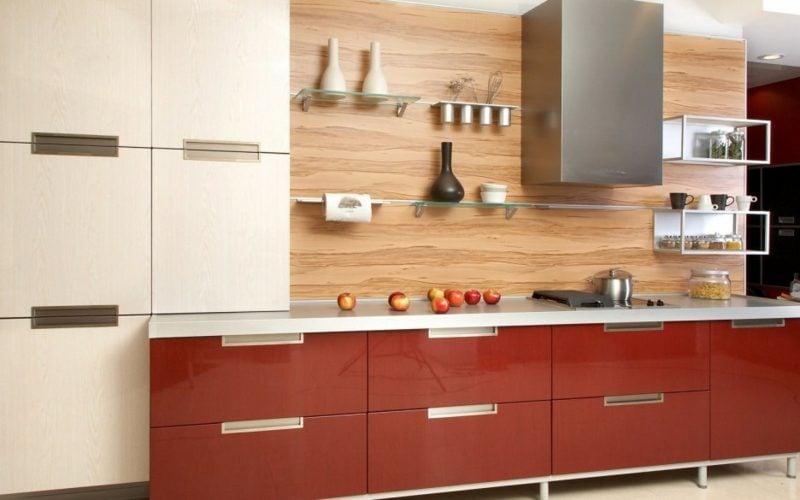 Küchenregale Glas minimalistisch
