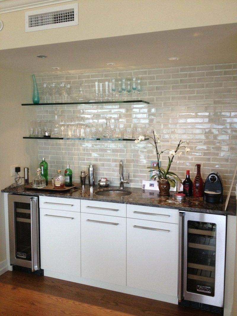 Küchenregale aus Glas