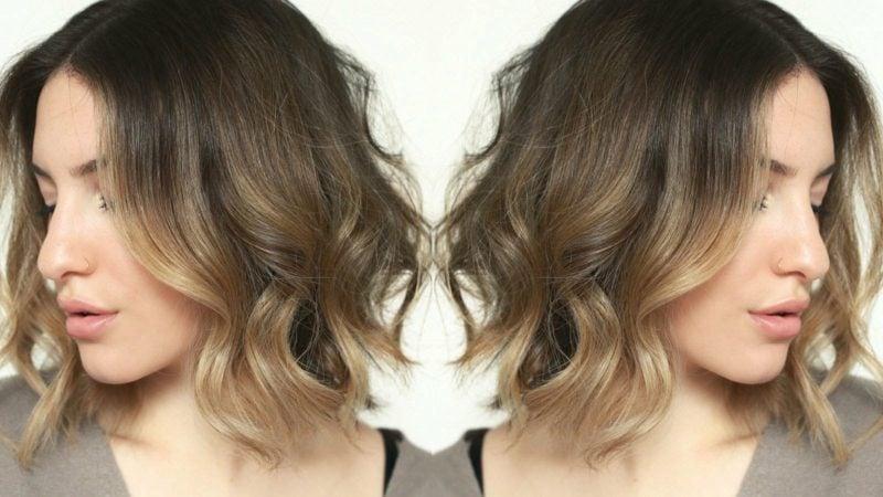Kurze Haare locken mit dem Glätteisen