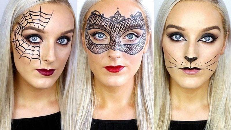 Halloween Make up einfach 3 tolle Ideen
