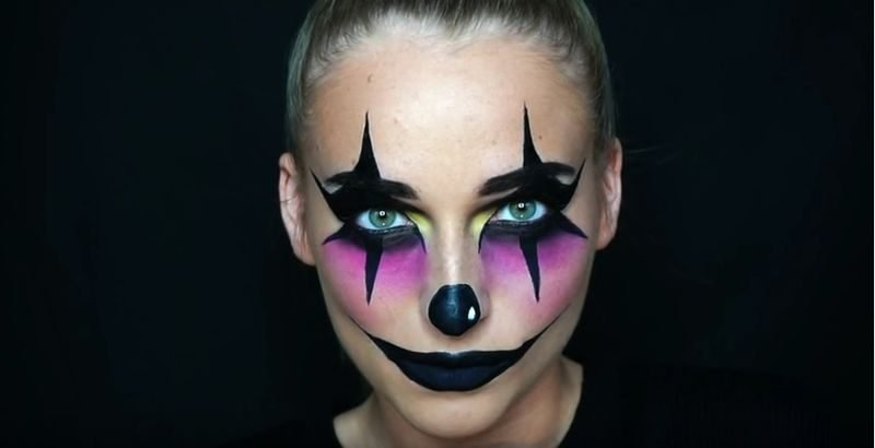 Halloween Make up einfach Clown
