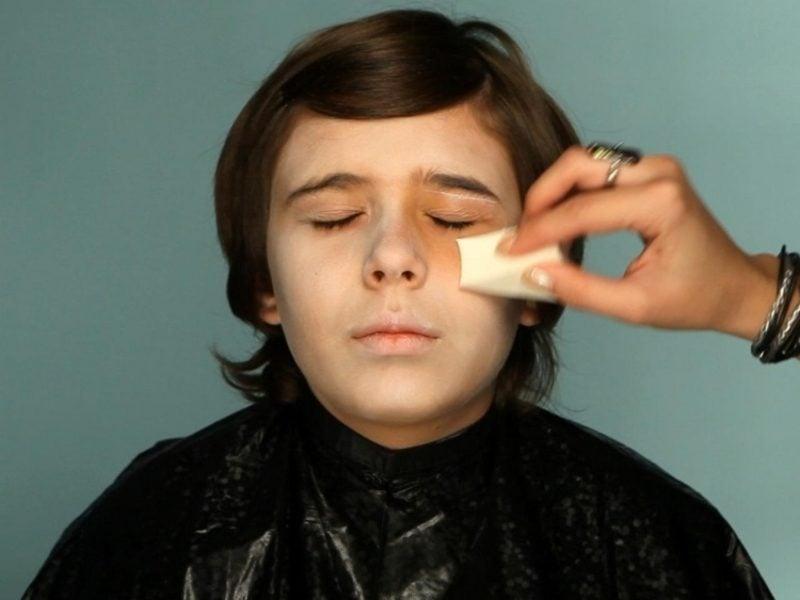 Halloween Make up einfach Augen schminken Vampir