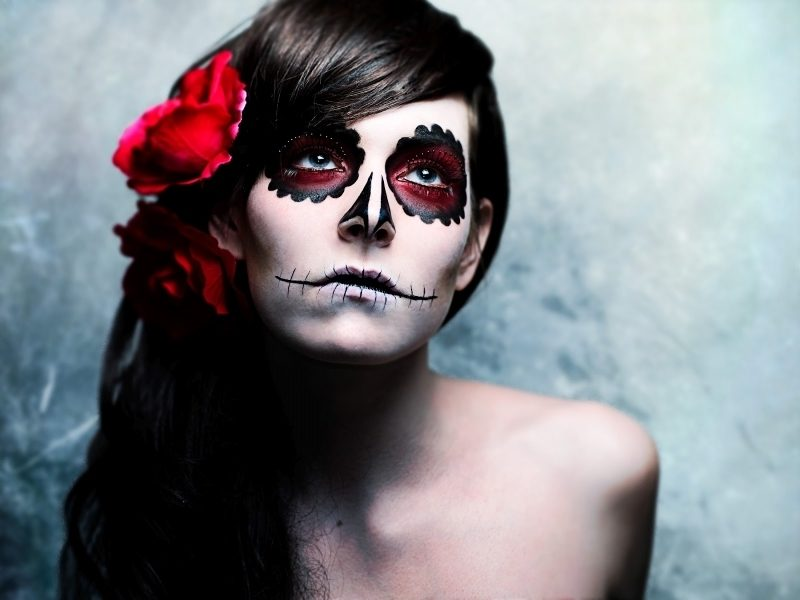 Halloween Make up einfach La Catrina Damen