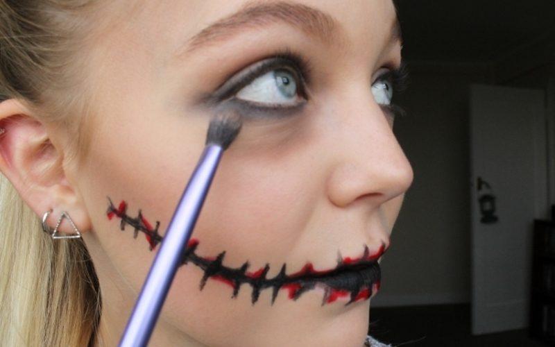 Halloween Make up einfach Zombie Augen betonen
