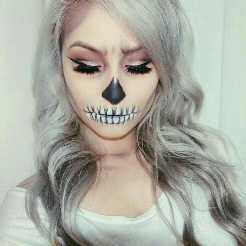 Halloween Make up einfach Zombie toller Look