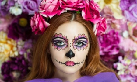 Halloween Make up einfach La Catrina