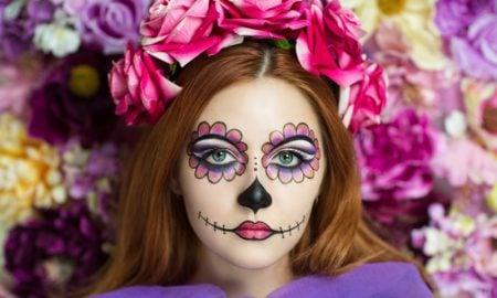 Halloween Make up einfach La Catrina