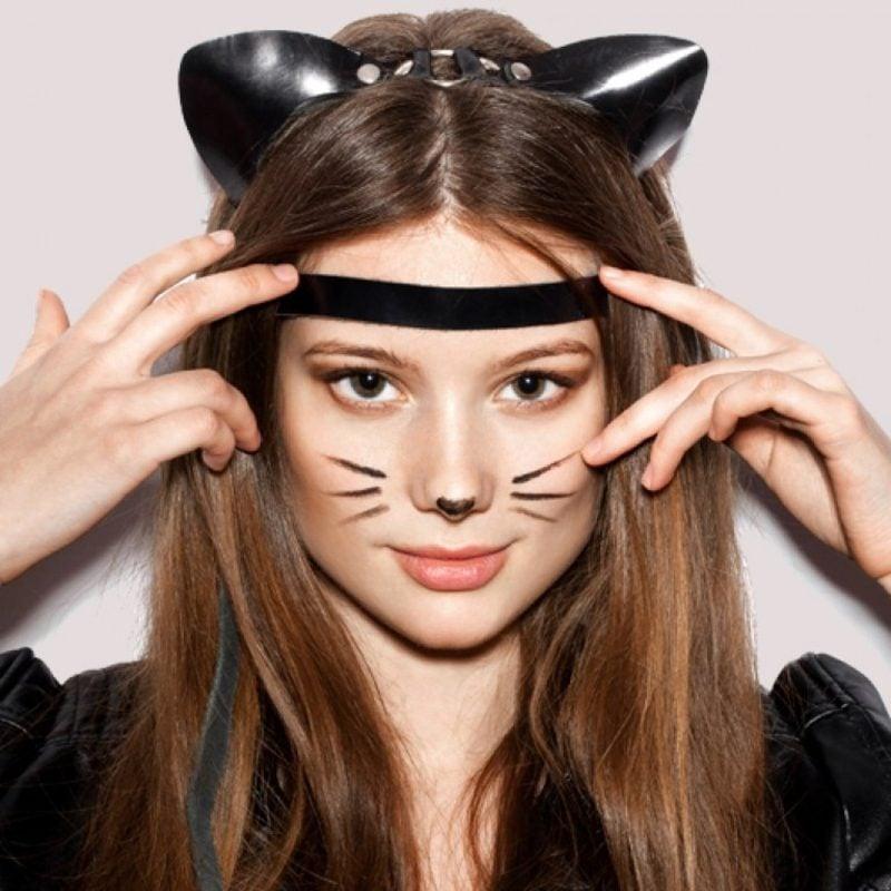 Halloween Make up einfach schlicht Katze