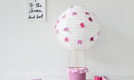 Heiβluftballon basteln wie geht es