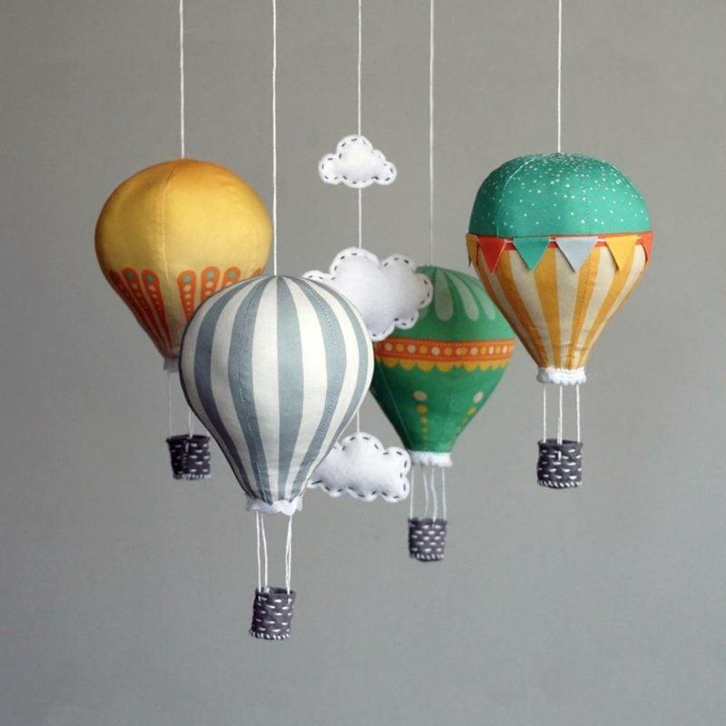 Heiβluftballon basteln herrliche Dekoidee