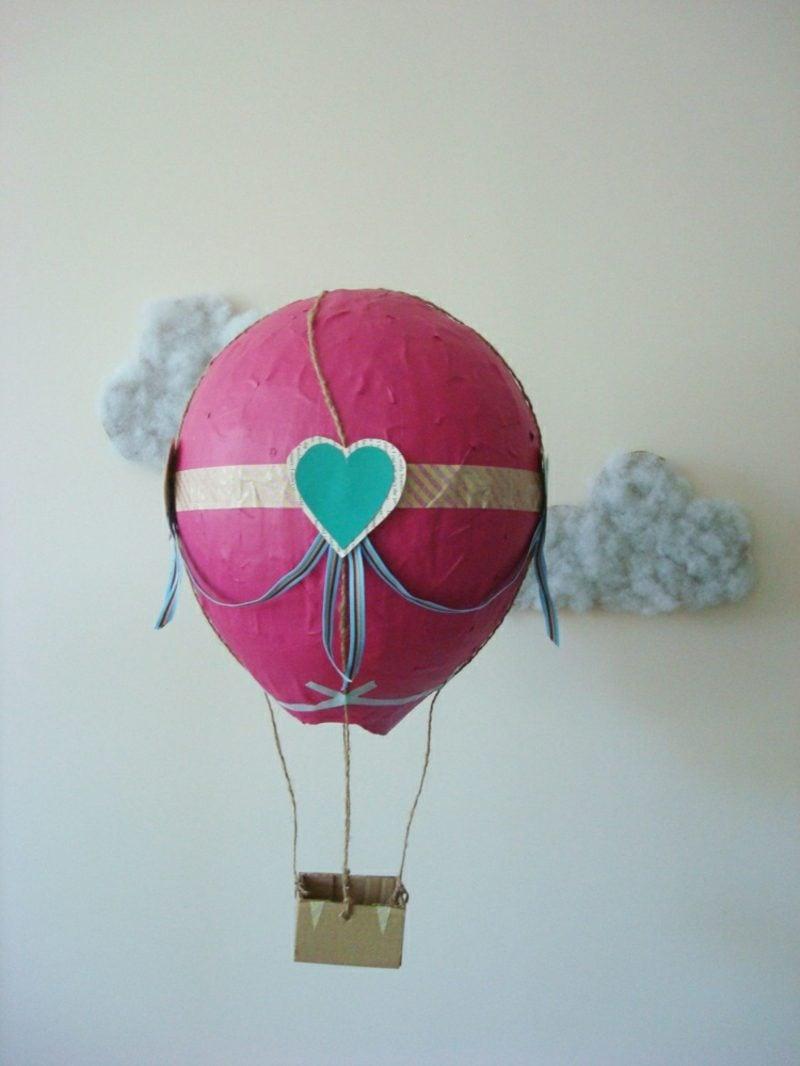 Heiβluftballon basteln aus Pappmache