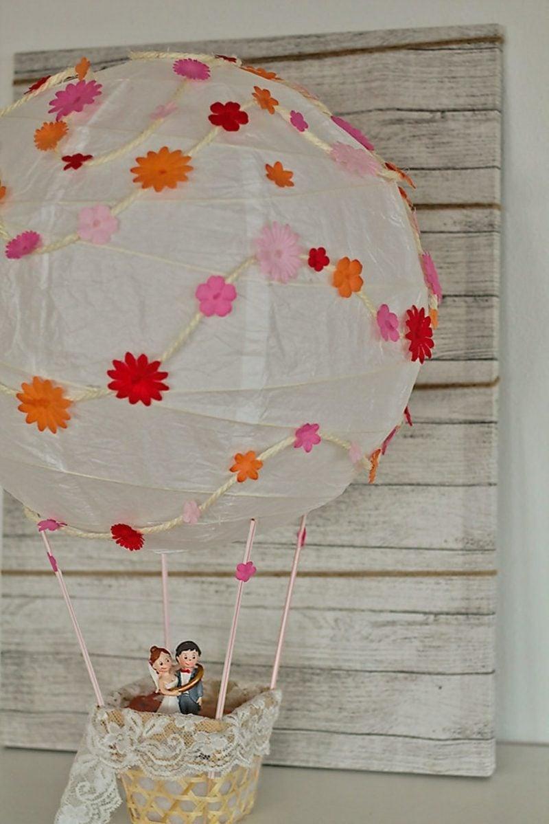 Heiβluftballon basteln Hochzeit Geldgeschenk