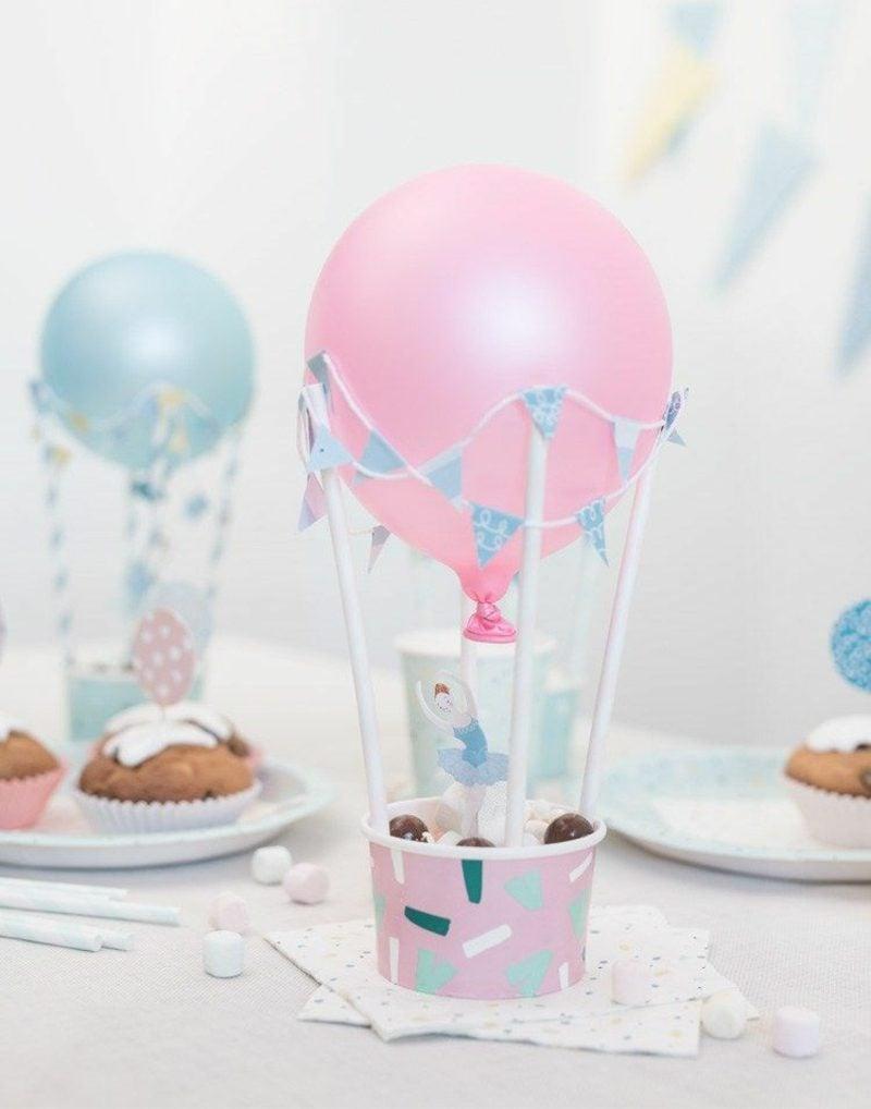 Heiβluftballon basteln zum Kindergeburtstag