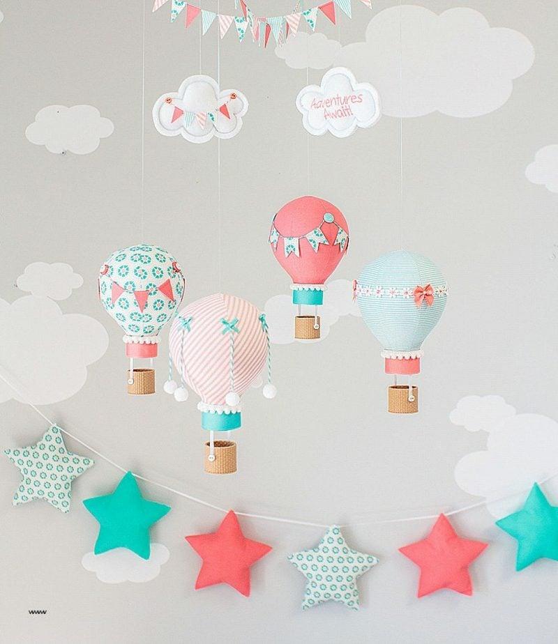 Heiβluftballon basteln als Kinderzimmerdeko