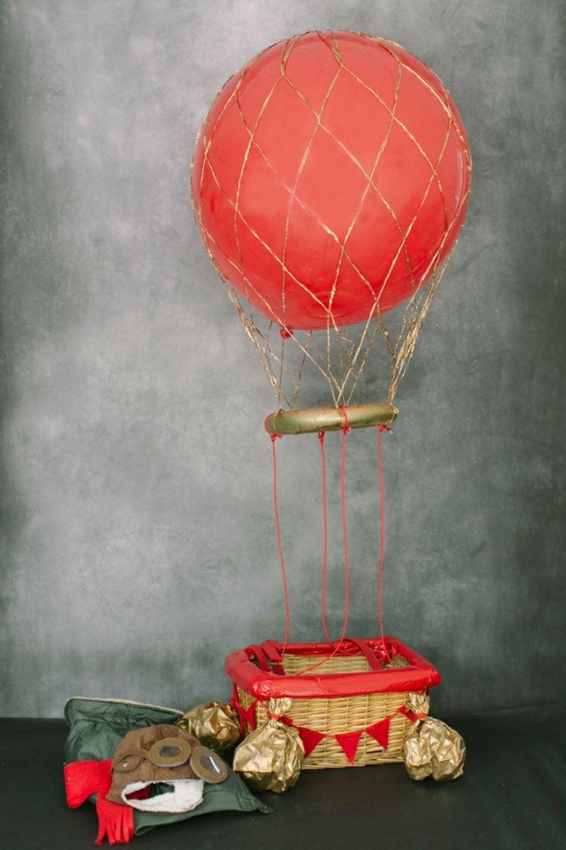 Heiβluftballon basteln DIY Ideen und Inspirationen