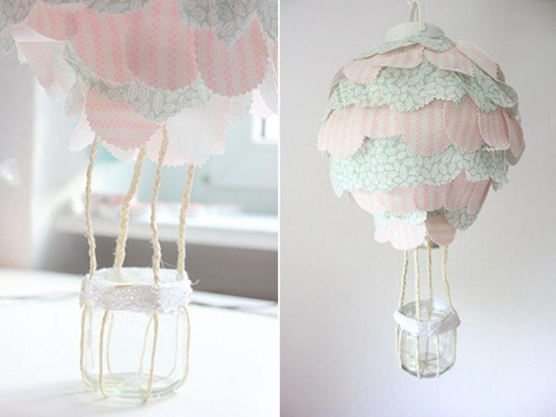 Heiβluftballon basteln und originell dekorieren