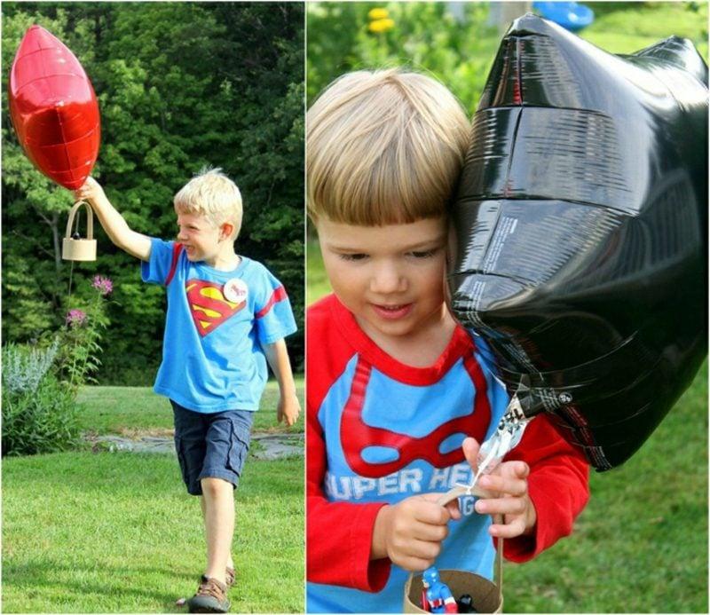Heiβluftballon basteln super einfach