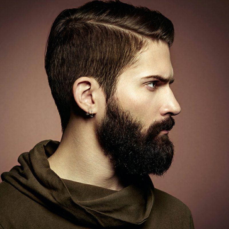 Bartfrisuren Hipster Bart Moustache Seitenscheitel