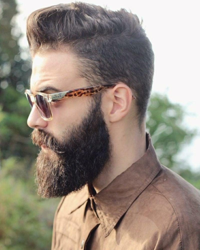 Bartfrisuren Hipster bart mit Moustache Sonnenbrillen