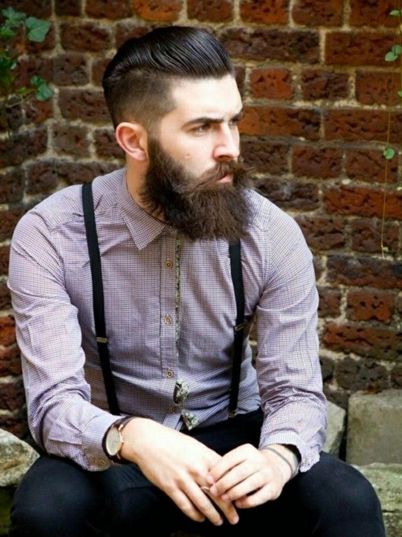 Bartfrisuren Hipster Bart mit Moustache