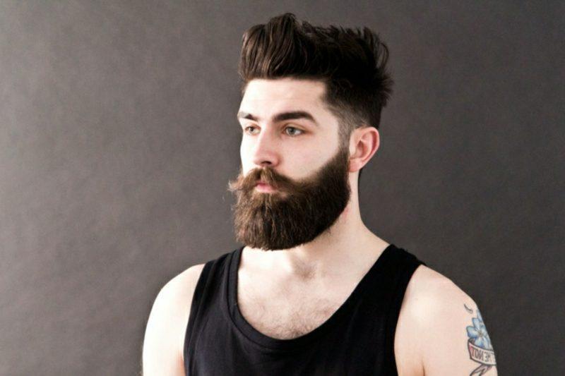 Bartfrisuren Hipster Bart lange Deckhaare Moustache
