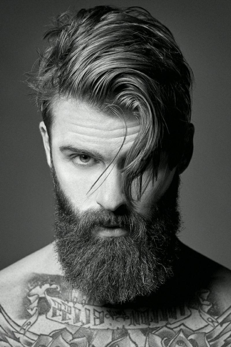 Bartfrisuren Hipster Bart moderner Haarschnitt