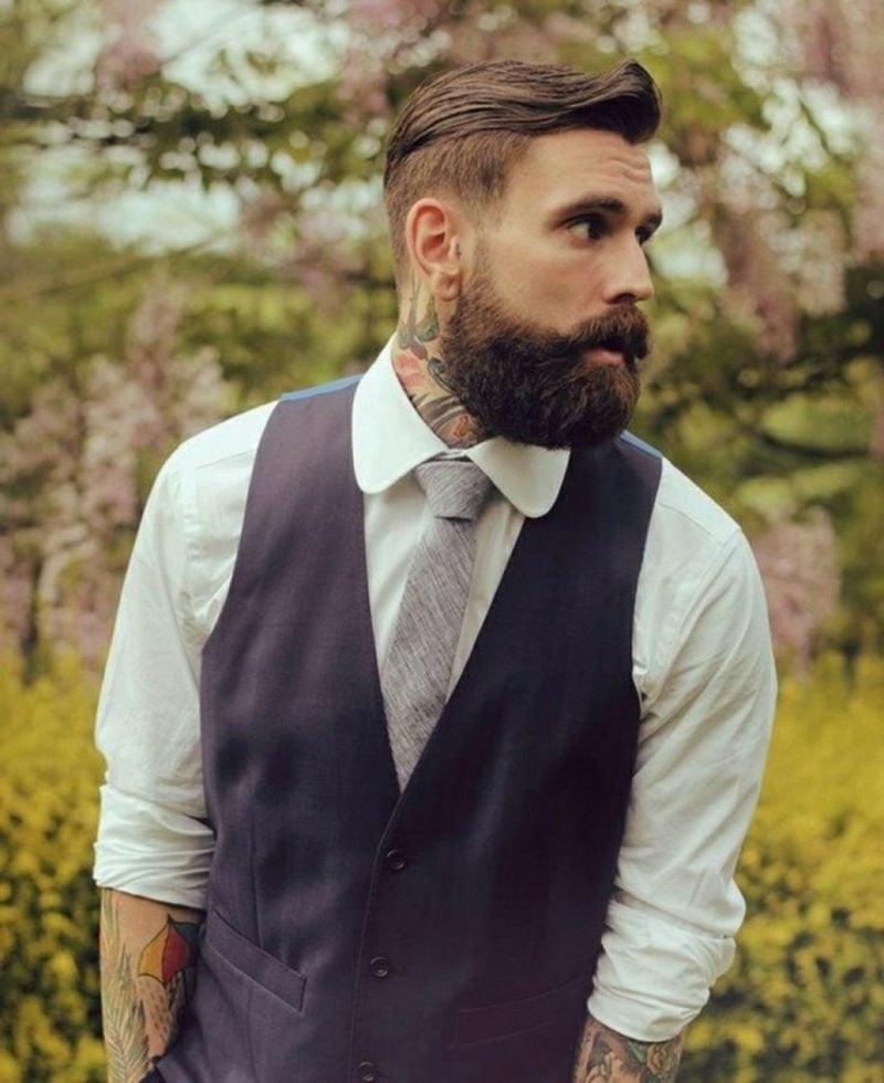 Bartfrisuren Hipster Bart Tattoos Krawatte