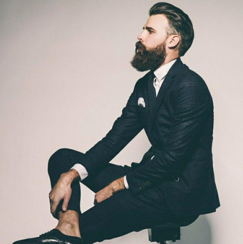 Bartfrisuren Hipster bart Undercut