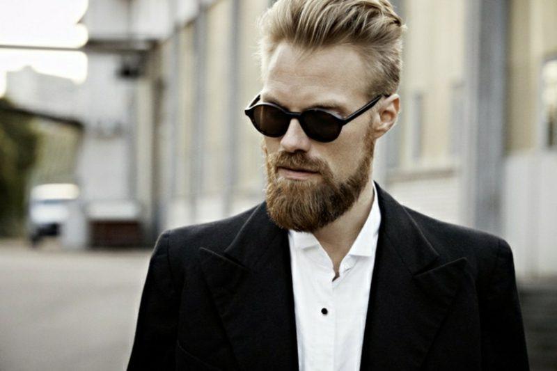 Bartfrisuren Hipster Bart blond