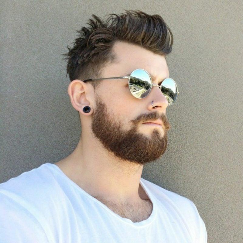 Bartfrisuren Hipster bart schicker Haarschnitt