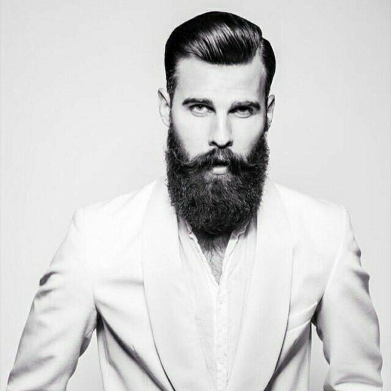 Bartfrisuren langer Hipster Bart Moustache