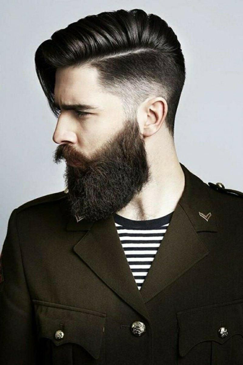 Bartfrisuren Hipster Bart Sidecut