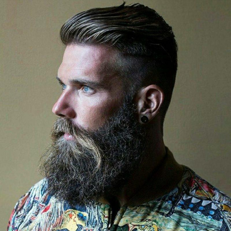 Bartfrisuren Hipster Bart Schnurrbart Undercut