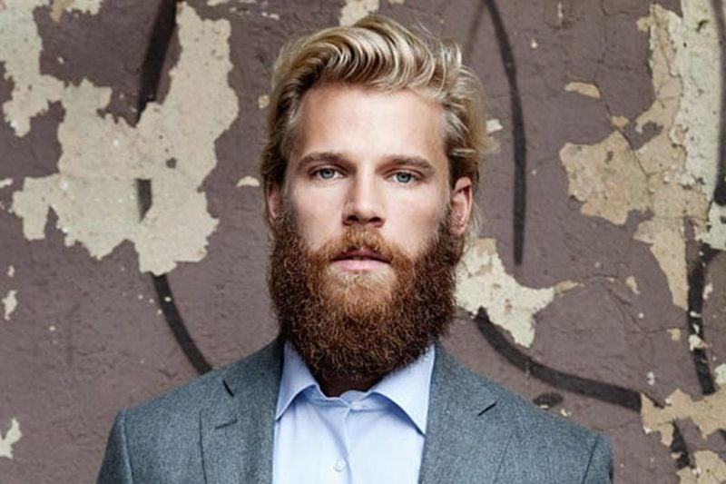 Bartfrisuren Hipster Bart blond blaue Augen