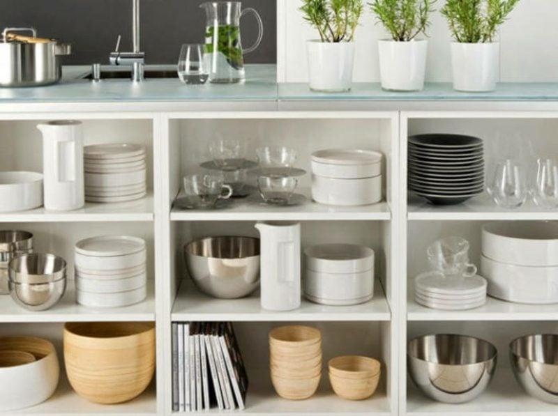 Küchenregale Stauraum Ikea Kallax Regale
