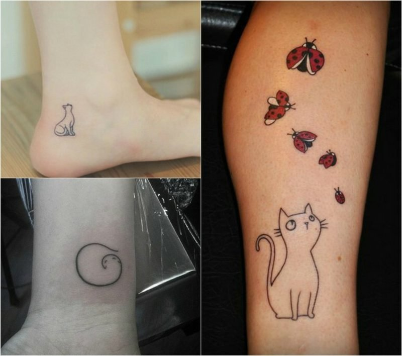 Tattoo Katze 3 Designideen Bein Fuss Handgelenk