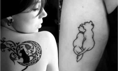 Tattoo Katze tolle Designs damen