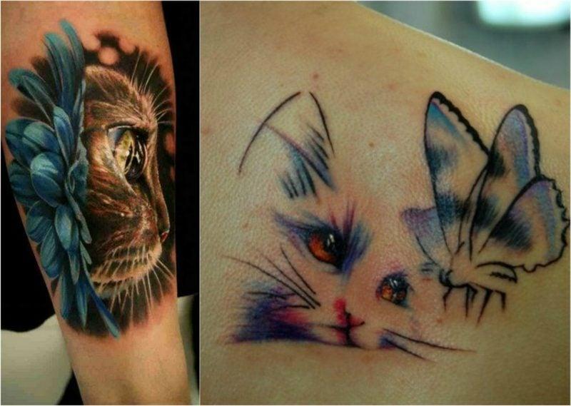 Tattoo Katze Aquarell realistisch