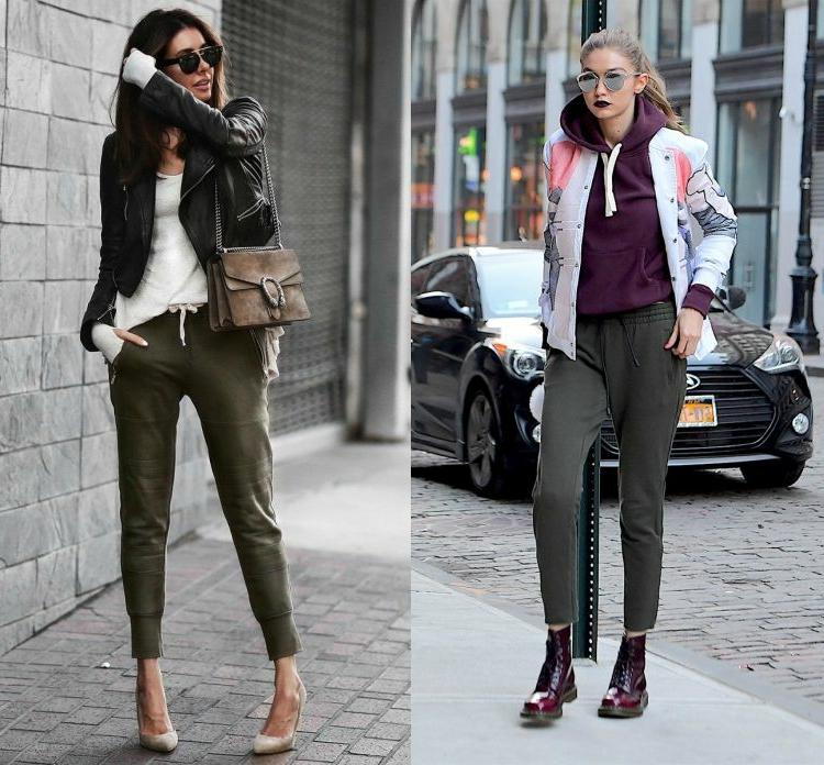 Khaki Farbe moderne Damenhosen