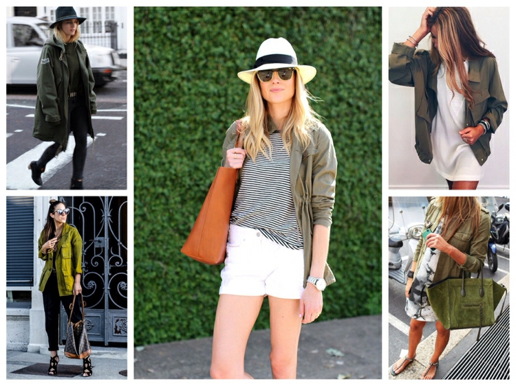 Khaki Farbe richtig tragen Sommer